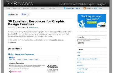 http://sixrevisions.com/resources/30-excellent-resources-for-graphic-design-freebies/