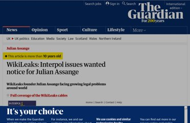 http://www.guardian.co.uk/media/2010/nov/30/interpol-wanted-notice-julian-assange