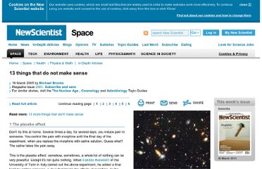 http://www.newscientist.com/article/mg18524911.600-13-things-that-do-not-make-sense.html