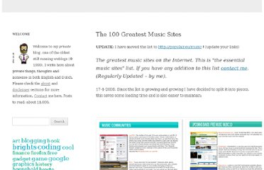 http://edward.de.leau.net/the-100-greatest-music-sites
