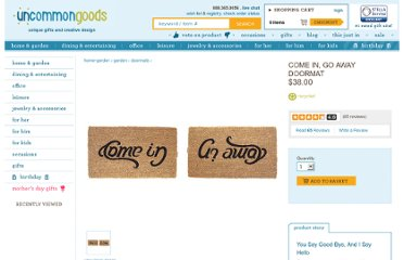 http://www.uncommongoods.com/product/come-in-go-away-doormat
