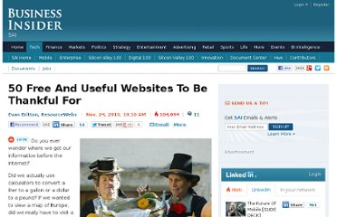 http://www.businessinsider.com/50-free-and-useful-websites-2010-11