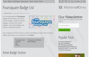 http://mattersofgrey.com/foursquare-badge-list/
