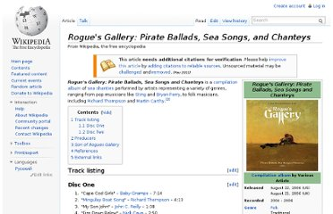 http://en.wikipedia.org/wiki/Rogue%27s_Gallery:_Pirate_Ballads,_Sea_Songs,_and_Chanteys