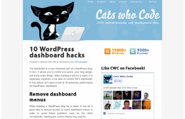 http://www.catswhocode.com/blog/10-wordpress-dashboard-hacks