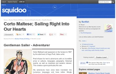 http://www.squidoo.com/Corto-Maltese-Adventurer