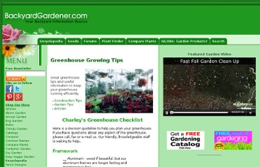 http://www.backyardgardener.com/greenhouse/GH-Checklist_tips.htm