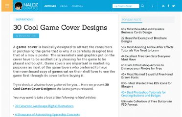 http://naldzgraphics.net/inspirations/30-cool-game-cover-designs/