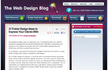 http://www.thewebdesignblog.co.uk/design-inspiration/21-folder-design-ideas-to-impress-your-clients-with/