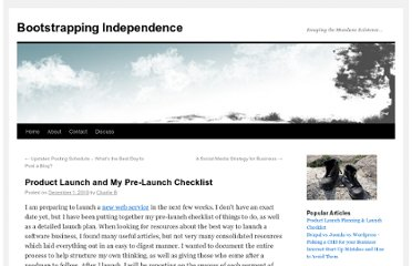 http://www.bootstrappingindependence.com/startup-challenges/product-launch-planning-and-my-pre-launch-checklist/
