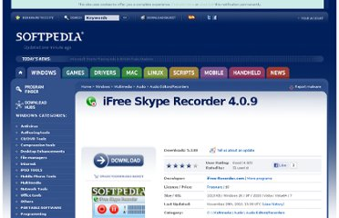 http://www.softpedia.com/get/Multimedia/Audio/Audio-Editors-Recorders/iFree-Skype-Recorder.shtml