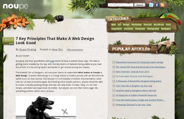 http://www.noupe.com/how-tos/7-key-principles-that-make-a-web-design-look-good.html