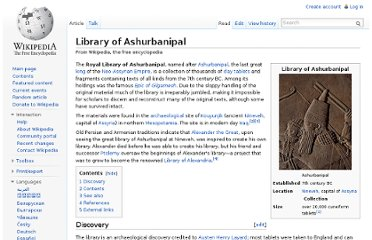 http://en.wikipedia.org/wiki/Library_of_Ashurbanipal