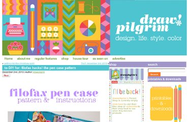 http://www.drawpilgrim.com/2010/12/to-diy-for-filofax-hacks-the-pen-case-pattern/