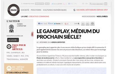 http://owni.fr/2010/12/01/le-gameplay-medium-du-prochain-siecle/