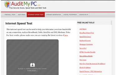 http://www.auditmypc.com/internet-speed-test.asp