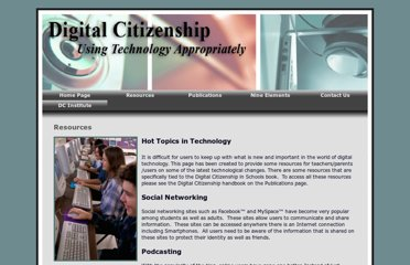 http://www.digitalcitizenship.net/Resources.html