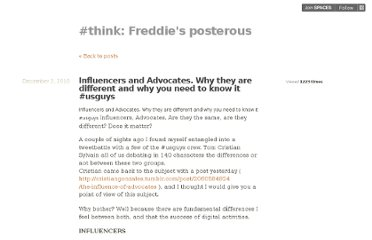 http://lefreddie.posterous.com/influencers-and-advocates-why-they-are-differ