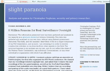 http://paranoia.dubfire.net/2009/12/8-million-reasons-for-real-surveillance.html