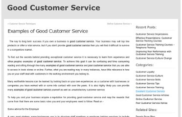 http://www.goodcustomerservice.org/examples-good-customer-service/