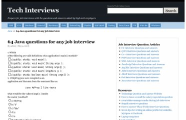 http://www.techinterviews.com/64-java-questions-for-any-job-interview