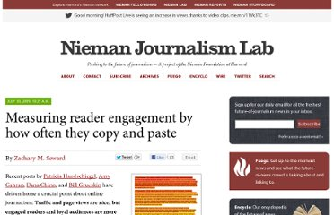 http://www.niemanlab.org/2009/07/measuring-reader-engagement-by-how-often-they-copy-and-paste/