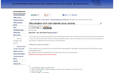 http://www.joomla-webmaster.com/site-internet/securite-et-piratage-de-site-internet/securisation-dun-site-internet-sous-joomla.html
