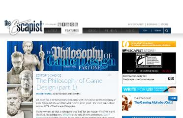 http://www.escapistmagazine.com/articles/view/issues/issue_273/8159-The-Philosophy-of-Game-Design-part-1