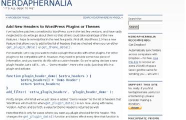 http://striderweb.com/nerdaphernalia/2009/11/add-new-headers-to-wordpress-plugins-or-themes/