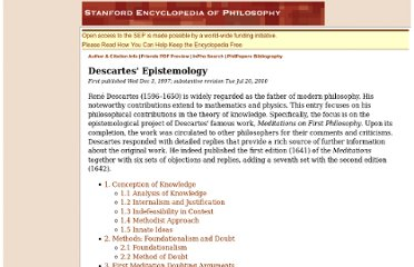 http://plato.stanford.edu/entries/descartes-epistemology/#4