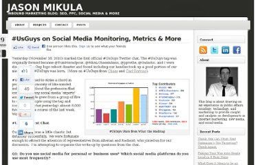 http://jasonmikula.com/2010/11/usguys-on-social-media-monitoring-metrics-more/