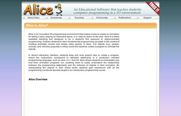 http://www.alice.org/index.php?page=what_is_alice/what_is_alice