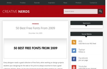 http://creativenerds.co.uk/freebies/50-best-free-fonts-from-2009/