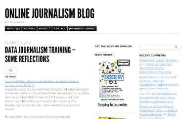 http://onlinejournalismblog.com/2010/12/01/data-journalism-training-some-reflections/