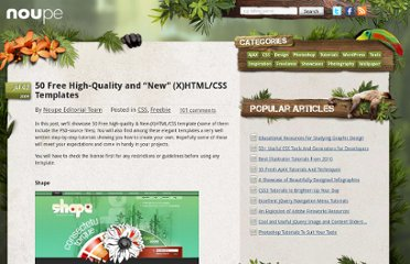 http://www.noupe.com/css/50-free-high-quality-and-new-xhtmlcss-templates.html