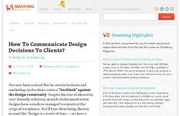 http://www.smashingmagazine.com/2008/07/22/how-to-communicate-design-decisions-to-clients/