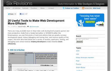 http://sixrevisions.com/tools/20_web_development_tools/