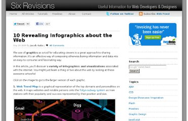 http://sixrevisions.com/resources/10-revealing-infographics-about-the-web/
