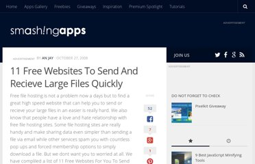 http://www.smashingapps.com/2008/10/27/11-free-websites-to-send-and-recieve-large-files-quickly.html