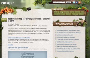 http://www.noupe.com/how-tos/best-photoshop-icon-design-tutorials-created-in-2010.html