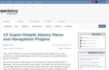 http://speckyboy.com/2010/12/01/15-super-simple-jquery-menu-and-navigation-plugins/
