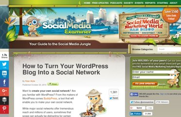 http://www.socialmediaexaminer.com/how-to-turn-your-wordpress-blog-into-a-social-network/