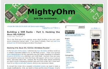 http://mightyohm.com/blog/2008/10/building-a-wifi-radio-part-3-hacking-the-asus-wl-520gu/