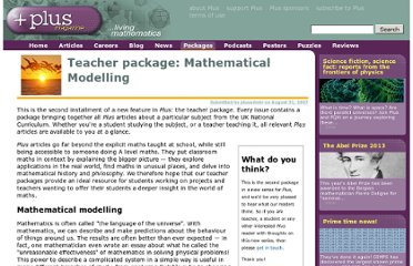 http://plus.maths.org/content/teacher-package-mathematical-modelling