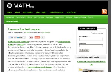 http://math-blog.com/2007/06/02/3-awesome-free-math-programs/