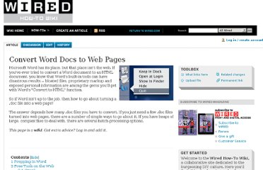 http://howto.wired.com/wiki/Convert_Word_Docs_to_Web_Pages