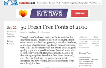 http://blog.templatemonster.com/2010/09/22/50-fresh-free-fonts/