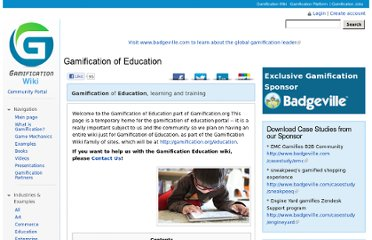 http://gamification.org/wiki/Gamification_of_Education