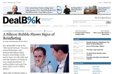 http://dealbook.nytimes.com/2010/12/03/a-silicon-bubble-shows-signs-of-reinflating/