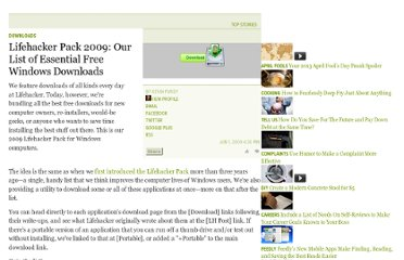 http://lifehacker.com/5271828/lifehacker-pack-2009-our-list-of-essential-free-windows-downloads